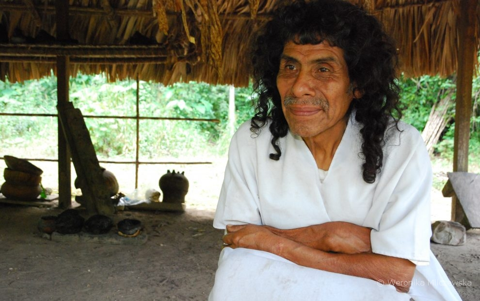 Don Antonio, Maya chaman, szaman majańskim Lacandon, Meksyk. Weronika Mliczewska